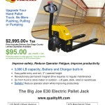 Electric Pallet Jack - Big Joe E30