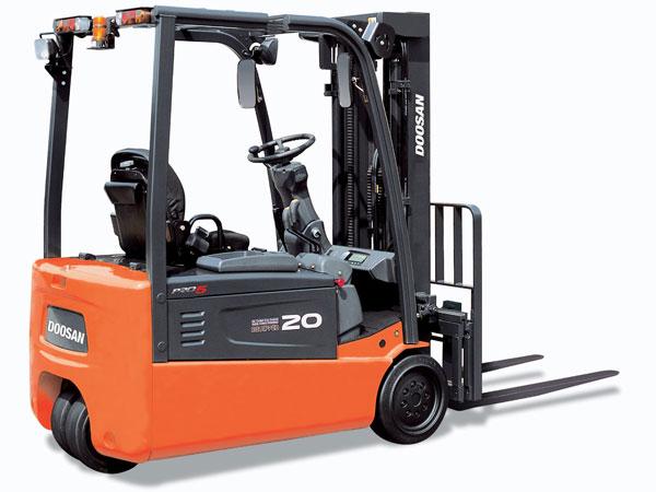 Doosan Electric Forklift  3,000 - 4,000 lb 3-Wheel Electric Series