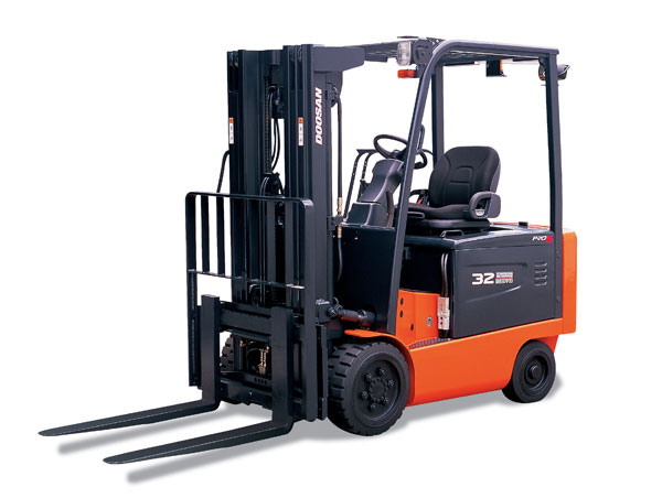 Doosan Electric Forklift 4,000 - 6,500 lb Electric, Pneumatic & Cushion Series