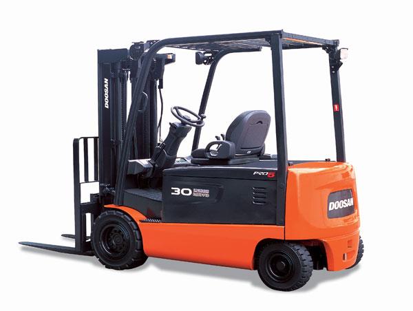 Doosan Electric Forklift 4,500 - 7,000 lb Electric, 4 Wheel Series