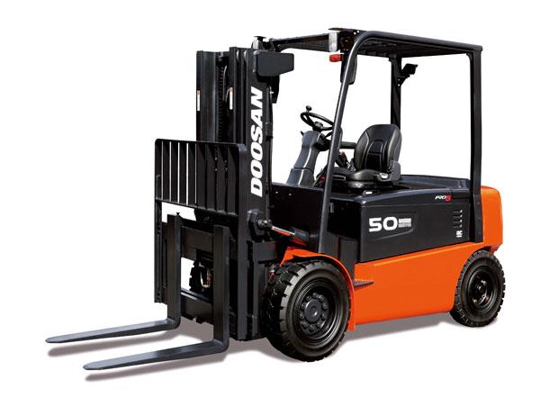 Doosan Electric Forklift 8,000 - 10,000 lb Electric, 4 Wheel Series